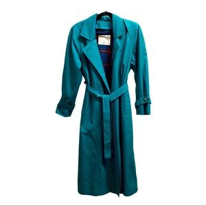 London Fog Limited Edition Teal Trench Coat